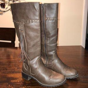Jasmine Brown Zip-up Sleeper Boots